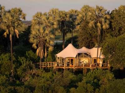 Botswana Safari Kwetsani Okavango Delta Luxus Camp