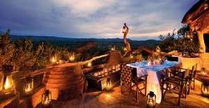 Gourmet Südafrika Madikwe Safari Lodge romantisches Abendessen