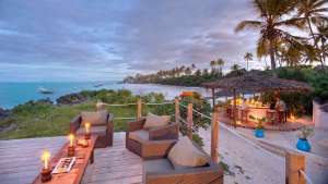 Matemwe Lodge Deck Bar Sansibar Sandstrand