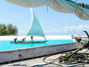 Matemwe Schnorcheln Tauschen Boot Indischer Ozean